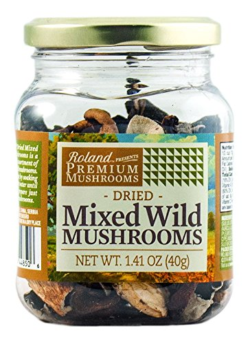 Roland Dried Mushrooms, Mixed Wild, 1.41 Ounce (Pasta Dried)