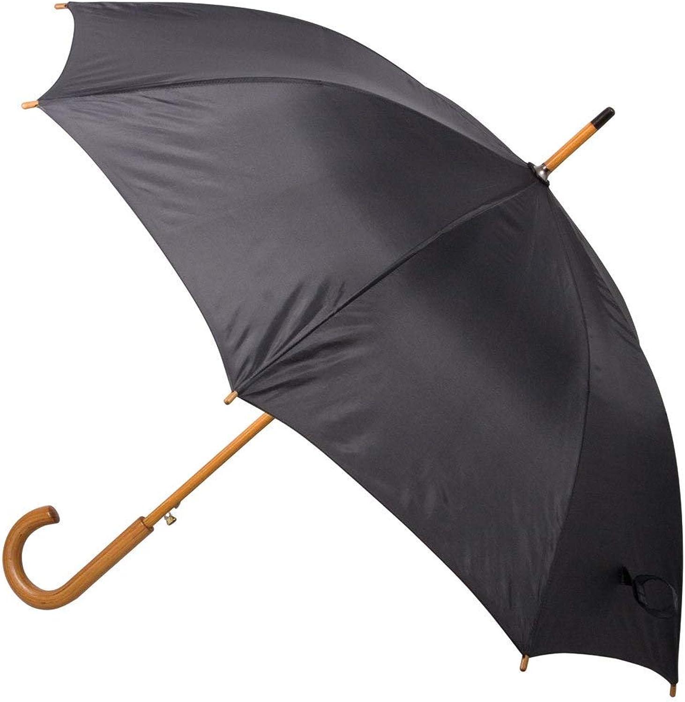 Mountain Warehouse Paraguas clásico - llano - paraguas adicional del patio de la protección, paraguas con estilo del sol, peso ligero, paraguas de madera curvado