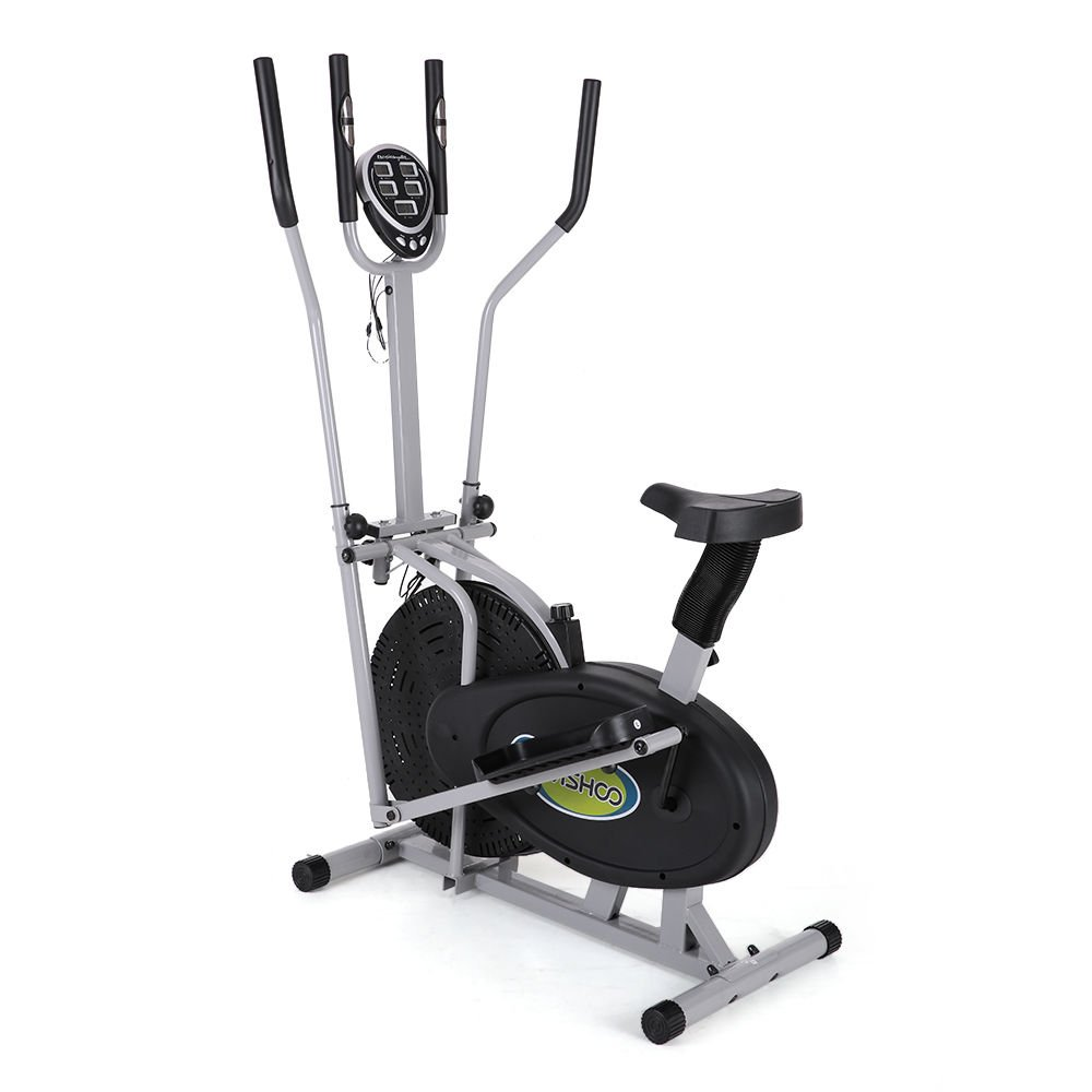 Electric Magnetic Elliptical Trainer 2 in 1 Bike Exercise Fitness Machine Upgrad