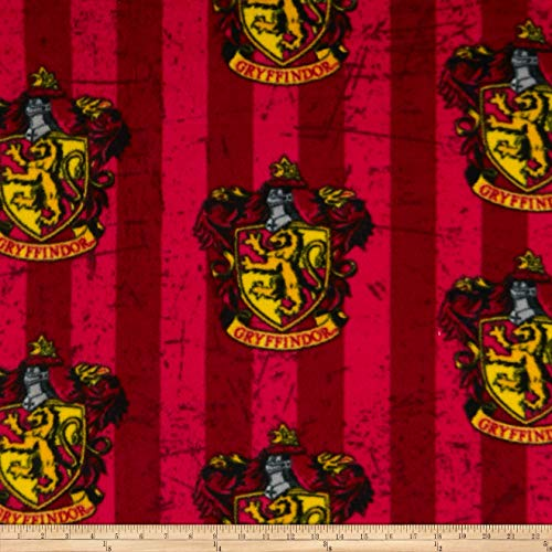 (Camelot Fabrics Combine Harry Potter Gryffindor Fleece Red Black Fabric Fabric by the)
