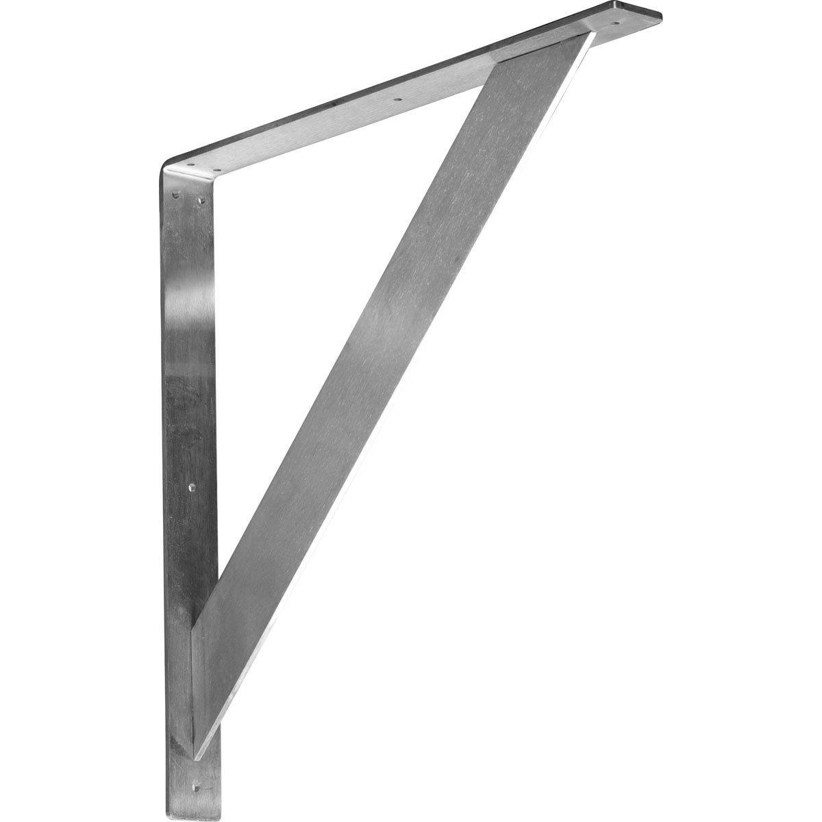 Ekena Millwork BKTM02X20X20TRCRS  2-Inch W x 20-Inch D x 20-Inch H Traditional Bracket, Steel