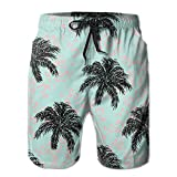 Adults Funny Coconut Hawaiian Shorts Drawstring Quick Dry Board Shorts