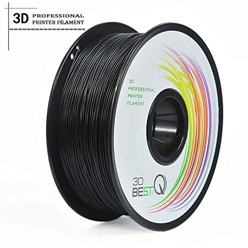 3D BEST-Q Carbon Fiber PC 1.75mm 3D Printer Filament, Dimensional Accuracy +/- 0.03 mm, 1KG Spool, Really Carbon Fiber-infill,Black