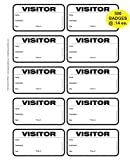 TSO 500 Badge (@ 14 Cents Each) Visitor Sign in Security Book Confidential Register with 3'' X 2'' Peel Off Destination Badges - Spiral Bound with 500 Badges (Black Non-Expiring)