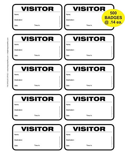 (TSO 500 Badge (@ 14 Cents Each) Visitor Sign in Security Book Confidential Register with 3