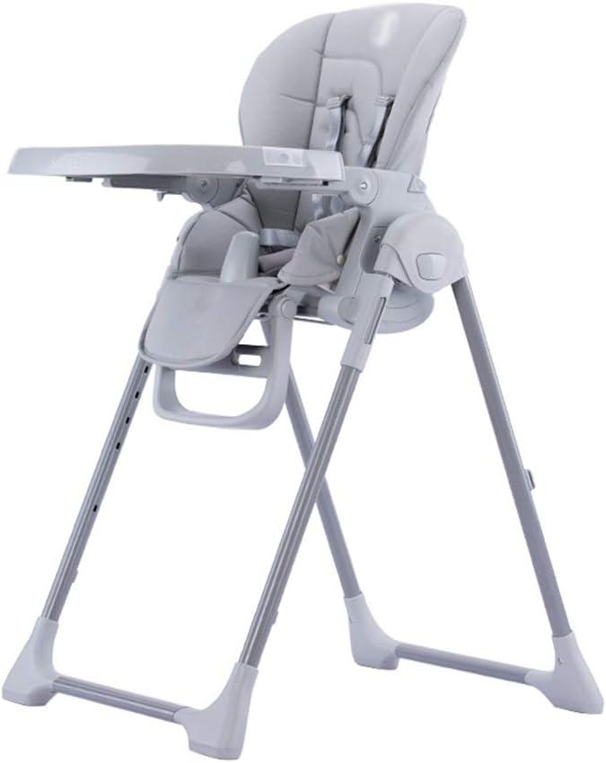 赤ちゃんはファミリー保育園研究チェア72 * 58 * 111センチメートルに適しチェアマルチレベル調節可能な折りたたみ式ダブルプレート多機能ダイニングチェア (Color : Gray)
