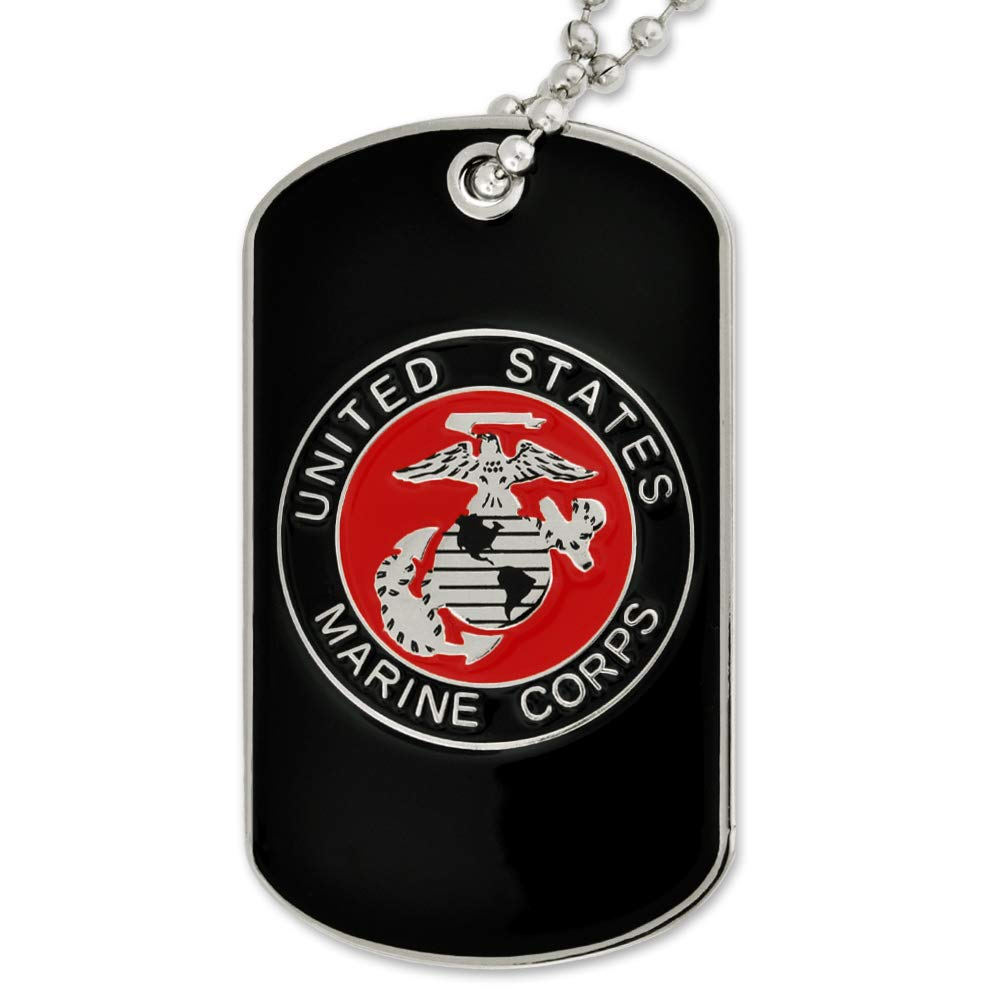 PinMart Military USMC Marine Corps Engravable Personalized Dog Tag Gift