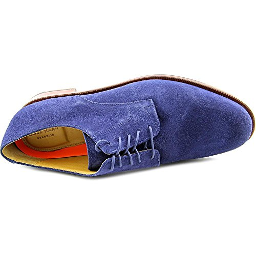Cole Haan Mens Carter Grand Plain Oxford Marine Blauw Suède