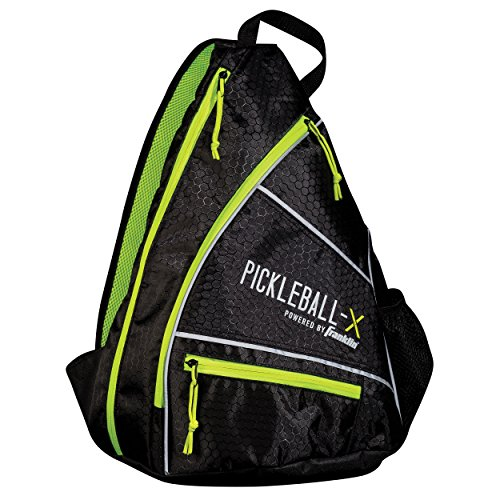 Franklin Sports Pickleball Sling Bag - Official Pickleball Bag of The U.S. Open Pickleball Championships - Adjustable - Black/Optic