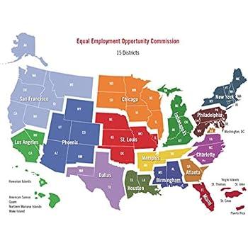 Amazon.com: Home Comforts Laminated Map - United States Courts ... on