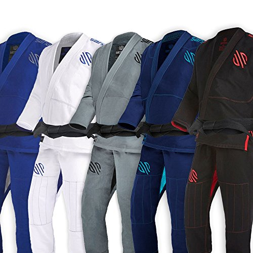 Sanabul Essentials Version 2 Ultra Light BJJ Jiu Jitsu Gi with Preshrunk Fabric (Black, A2) (Weave Bjj Kimono)