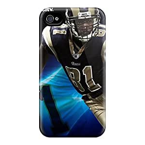 For Iphone Case, High Quality St. Louis Rams For Iphone 4/4s Cover Cases