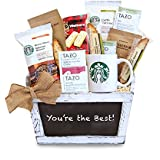 Take a Break with Starbucks Coffee Gift Basket By California Delicious