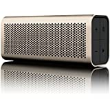 BRAVEN 710 Portable Wireless Bluetooth Speaker [12 Hour Playtime][Water Resistant] Built-In 1400 mAh Power Bank Charger -Gold