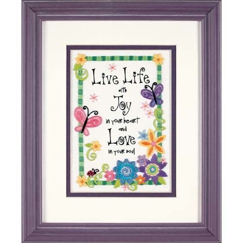 Life Needlepoint Kit (Dimensions Needlecrafts Crewel, Live Life)