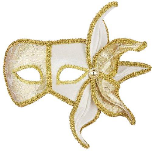 Deluxe Fancy Venetian Gold Mask - Adult (Deluxe Fancy Venetian Gold Mask)