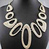 Women Scrub Hollow up collar Pendants Statement Necklace Jewelry Accessories