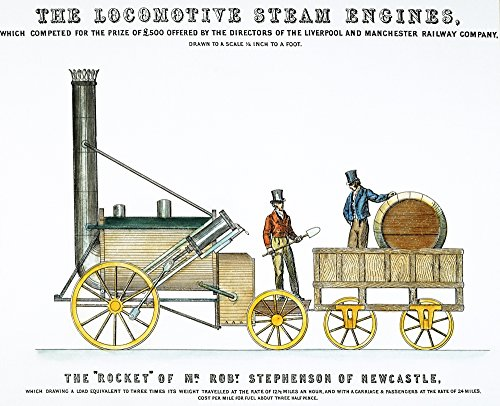 1829 Stephenson Rocket - StephensonS Rocket 1829 Ngeorge & Robert StephensonS Rocket From An Announcement In An 1829 Issue Of Mechanics Magazine Featuring That YearS Winners Of The Liverpool & Manchester RailwayS Competition