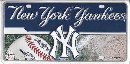 MLB New York Yankees Metal Auto Tag