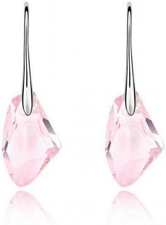 E-H Pendientes de Cristal Pendientes de Bricolaje con Piedras Preciosas Ocre Pendientes, Amarillo Claro