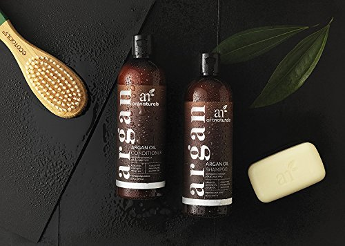 Art-Naturals-Organic-Moroccan-Argan-Oil-Shampoo-and-Conditioner-Set-2-x-16-Oz-Sulfate-Free-Volumizing-Moisturizing-Gentle-on-Curly-Color-Treated-HairFor-Men-Women-Infused-with-Keratin