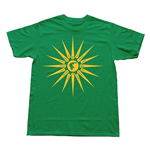 PTHZ Men's Ilios Cotton T Shirt Tee KellyGreen XL