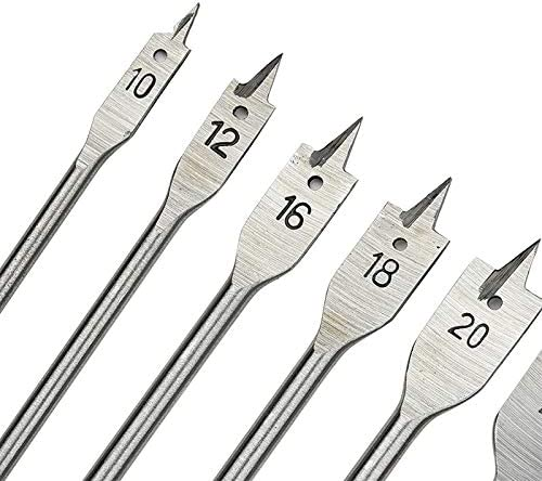 YASE-king 6pcs//set flat drill bits 3-point woodworking opener with hexagonal handle wood working tools 10-25mm Color : Other sizes