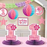1st Birthday Girl Decorating Kit Party Supplies