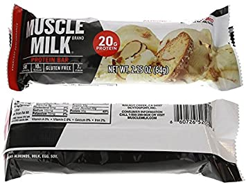 Cytosport Muscle Milk Red Bar Variety Pack 2-Each Flavor 12-2.25oz Bars