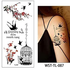 adgkitb 4 Piezas Hoja Mujer esternón joyería Tatuaje Temporal ...