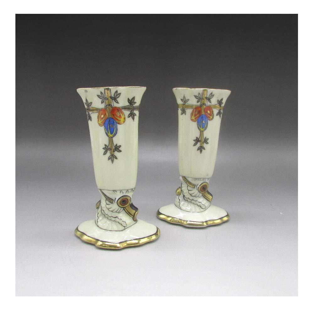 オールドノリタケ : アールデコ木の実文花瓶 【 1921年頃 - 1941年頃 】【 ヴィンテージ 】 B07SMWDGV8