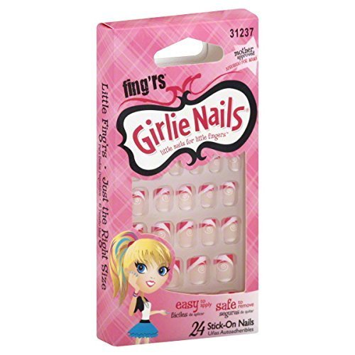 Little Fing'rs Girlie Nails Stick-On Nails, 24 ct. by Little Fingrs by Fing'rs