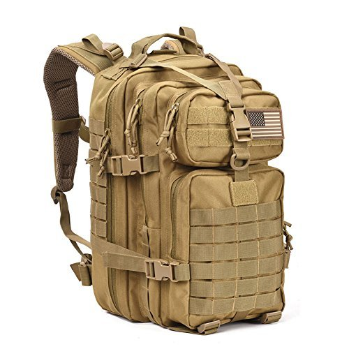 Military Tactical Assault Pack Backpack Army Molle Bug Out Bag Backpacks Small Rucksack for Outdoor Hiking Camping Trekking Hunting Brown (Tactical Assault Pack)