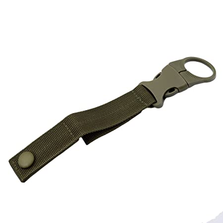 Carabiner Hook Webbing Buckle Nylon Molle Belt Hanging Key Ring Outdoor Tool UK