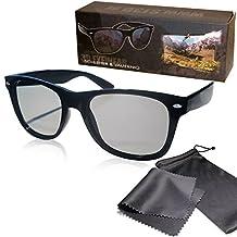 SJ3D Passive 3D Glasses Classic Look Eyewear Circularly Polarized For Reald 3D Cinema Passive 3DTv Lg Cinema 3d Philips Easy 3D Toshiba 3D Natural Vizio 3D Sony Panasonic Grundig + Microfiber Pouch