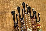 Wrought Iron Hooks-Nail Hooks -Set of 6- Black Hand Forged Wrought Iron Hooks