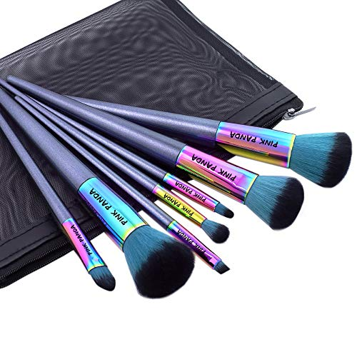 "PINKPANDA Makeup Brushes 7 Pcs""Fantasy Secret"" Color Professional Makeup Brush Set Premium Synthetic Cosmetic Foundation Blending Blush Concealers Eye Shadows Face Powder Kabuki Make Up Brushes Kit"
