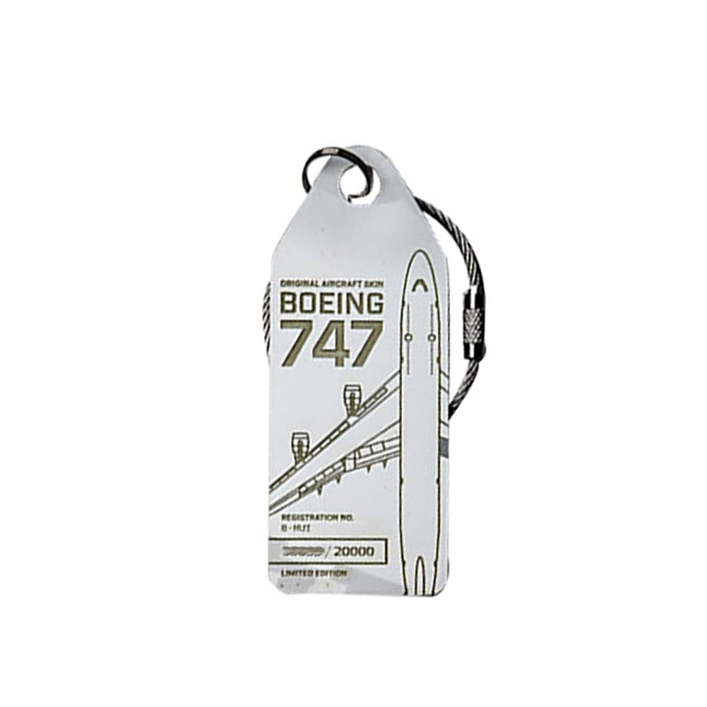 Limited Keychain Luggage Tag Lufthansa Boeing 747 Airbus A320 Aircraft Skin (1 Boeing747 white)