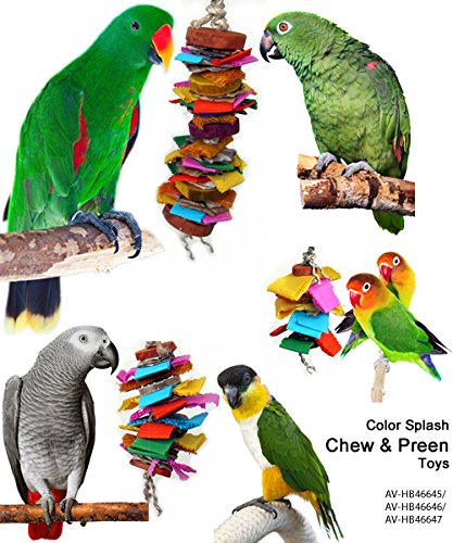 Color Splash Bird Chew and Preen Bird Toy (Medium) by Avianweb (Image #1)
