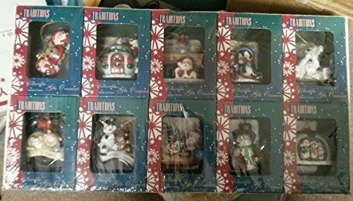 xmas-ornaments-10-individual-3-collectible-penquin-santa-cow-snowman-bear-cat-elf-mouse