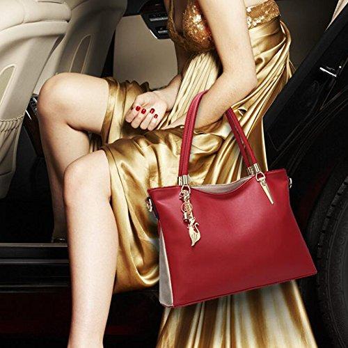 Women's Bag Capacity Retro Fashion Multifunctional Shoulder Large Bag Bag Casual Messenger Tote Bag Black r7rqznT