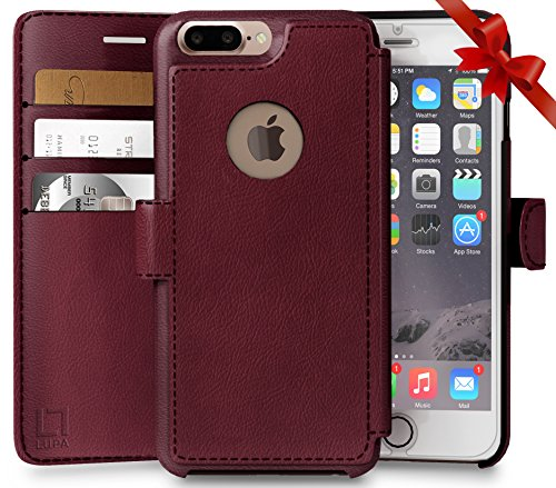 iPhone 8 Plus Wallet Case, Durable and Slim, Lightweight wit