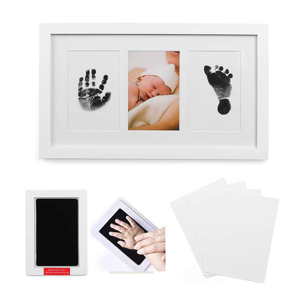 4 FARBEN IN EINER PACKUNG Baby Bilderrahmen f/ür Handabdruck /& Fu/ßabdruck /® Babyboon