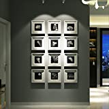 LQQGXL Multi-frame set, a large photo frame set, the best wall decoration Photo frame ( Color : White frame )