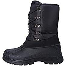 Mountain Warehouse Plough Men's Snow Boots - Breathable, IsoDry Membrane with Durable Textile Upper & Rubber Outsole for Extra Comfort