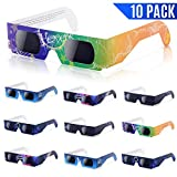 Solar Eclipse Glasses, Exwell Solar Eclipse Safety Sun Glasses, 10-Packs Solstice Glasses That Are CE&ISO Approved