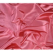 Taffeta Fabric Solid LIGHT CORAL / 58 Wide / Sold by the Yard by FABRIC EMPIRE