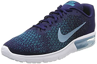 Nike Men's Air Max Sequent 2 Running Shoe Binary Blue/Cerulean/Black/Blustery Size 10.5 M US