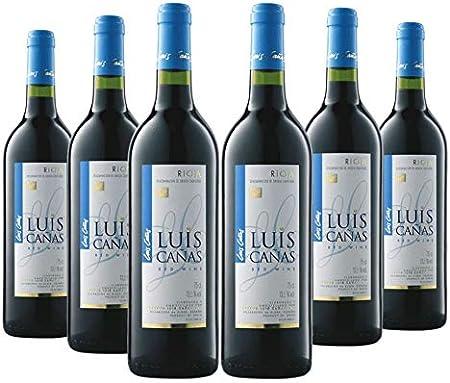 Vino Tinto Joven Luis Cañas - Caja Vino 6 Botellas - Vino Tinto D.O. Rioja - Un joven gran vino - Elaborado con uvas de la variedad Tempranillo