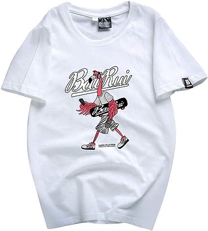 Flamingo Camiseta Camisa de Manga Corta con Estampado de ...